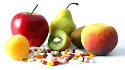 Obst Tabletten Nahrungsergänzungsmittel
